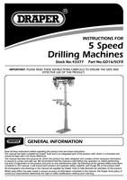 Instruction Manual for Draper 370w 230v 5 Speed Floor Standing General Workshop Radial Drill 43377 Gd16/5cfr