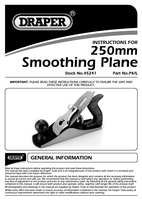 Instruction Manual for Draper Expert 250mm Smoothing Plane 45241 (P4/L)