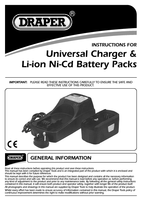 Instruction Manual for Draper Expert 14.4V Universal Battery Charger for Li-Ion and Ni-Cd Battery Packs 45378 (C140UB)