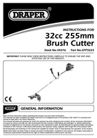 Instruction Manual for Draper Expert 32Cc Petrol Grass Cutter 45576 Gtp3223