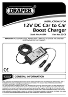 Instruction Manual for Draper 12v Dc Vehicle To Vehicle Booster 46544 (C2Cb)