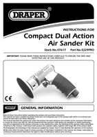 Instruction Manual for Draper Expert Compact Dual Action Soft Grip Air Sander Kit 47617 5229pro