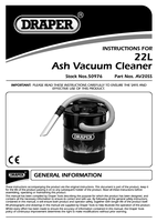 Instruction Manual for Draper 22l 700w 230v Ash Vacuum 50976 (Av20ss)