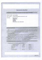 Material Safety Data Sheet for Draper 3w 9 Led Rechargeable Torch 51339 (Rled3/9)
