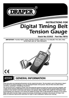 Instruction Manual for Draper Expert Timing Belt Tension Gauge 53352 (Tbtg)