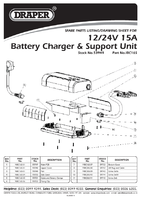 Parts List for Draper 15a Battery Charger (12/24v) 53949 (Ibc16s)