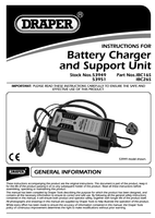 Instruction Manual for Draper 25a Battery Charger (12/24v) 53951 (Ibc26s)