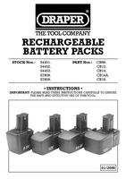 Instruction Manual for Draper 12v Cordless Rotary Drill Battery Pack 54452 Ycb12