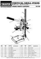 Parts List for Draper Vertical Drill Stand 54488 Ds1