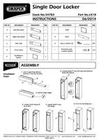 Instruction Manual for Draper Single Door Locker - 380 X 450 X 1800mm 54783 (Lk1b)