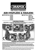 Instruction Manual for Draper 8-25mm Air Stapler Kit 57555 As8-25