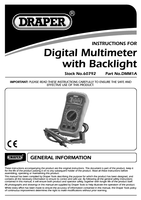 Instruction Manual for Draper Digital Multimeter With Light 60792 Dmm1a