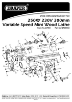 Parts List for Draper 250w 230v Variable Speed Mini Wood Lathe 60988 (Wtl330a)