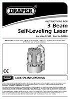 Instruction Manual for Draper Expert Prolaser® Vector Three Beam Self-levelling Laser Level With Pulse Feature For Outdoor Use 64547 (D888a)