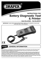 Instruction Manual for Draper Expert Battery Diagnostic Tool With Built-in Printer 64583 (Bdt/b)