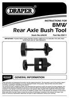 Instruction Manual for Draper Bmw Rear Axel Bush Removal Tool 64634 (Ssk11)