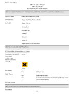 Material Safety Data Sheet for Draper 5l 'Hard Graft' Parts Washing Fluid 64997 (Hgpwf-5l)