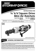 Instruction Manual for Draper Storm Force Stubby Air Ratchet (1/4