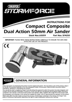 Instruction Manual for Draper Storm Force 50mm Mini Air Sander 65059 (Sfas50)