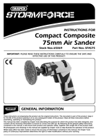 Instruction Manual for Draper Storm Force Compact 75mm Composite Air Sander 65069 (Sfas75)