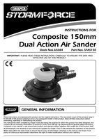 Instruction Manual for Draper Storm Force Composite 150mm Dual Action Air Sander 65084 (Sfas150)