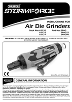Instruction Manual for Draper Storm Force Composite Straight Mini Air Die Grinder (6mm) 65130 (Sfag)