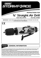 Instruction Manual for Draper Storm Force Composite 3/8