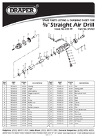Parts List for Draper Storm Force Composite 3/8