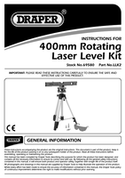 Instruction Manual for Draper 400mm Class 2 Laser Level Kit With 360 Swivelling Tripod 69580 Llk2