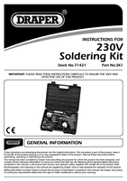 Instruction Manual for Draper 230V SOLDERING KIT 71421 SK1