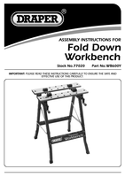 Instruction Manual for Draper 605mm Fold Down Workbench 77020 Wb600y