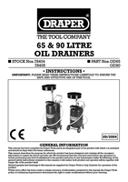 Instruction Manual for Draper Expert 65l Gravity Feed Oil Drainer 78404 Od65
