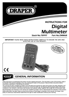 Instruction Manual for Draper Digital Multimeter 78997 (DMM6B)