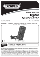 Instruction Manual for Draper Expert Autoranging Digital Multimeter 78999 Dmm11b