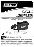 Instruction Manual for Draper Expert Induction Heating Tool Kit 80808 (Iht-15)