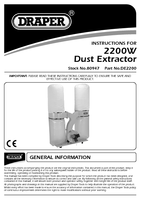 Instruction Manual for Draper 300l Dust Extractor (2200w) 80947 (De2200)