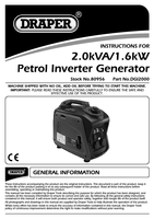 Instruction Manual for Draper 2kva Inverter Generator 80956 (Dgi2000)