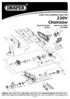 Parts List for Draper 1800w 400mm 230v Chainsaw With Oregon® Chain And Bar 81564 (Cs1800a)