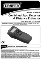Instruction Manual for Draper Distance Measure/stud Detector With Laser Pointer 88988 Dmsd