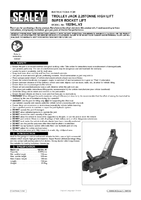 Instruction Manual for Sealey 1025hl Trolley Jack 2.25tonne High Lift Quick Lift