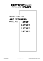 Instruction Manual for Sealey 200xtd Arc Welder 200amp With Accessory Kit