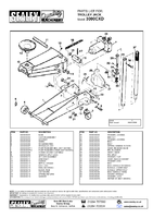 Parts List for Sealey 3000CXD Trolley Jack 3tonne Standard Chassis