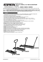 Instruction Manual for Sealey 3000es Trolley Jack 3tonne European Style