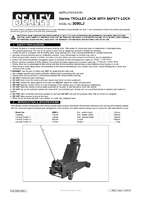 Instruction Manual for Sealey 3000lj 3tonne Trolley Jack With Safety Lock