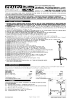 Instruction Manual for Sealey 500etj Transmission Jack 0.5tonne Vertical