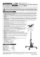 Instruction Manual for Sealey 500TTJ Transmission Jack 0.5tonne Vertical Telescopic
