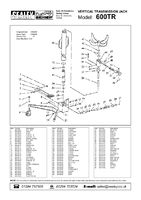 Parts List for Sealey 600TR Transmission Jack 0.6tonne Vertical