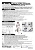 Instruction Manual for Sealey Afpl3 Aluminium Telescopic Ladder 4-way En131 Adjustable Height