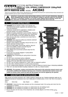 Instruction Manual for Sealey AK3843 Coil Spring Compressor 1200kg/Pair