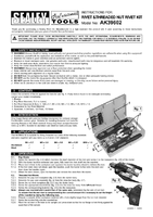 Instruction Manual for Sealey AK39602 Rivet & Threaded Nut Rivet Kit